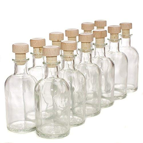 Pack de 12 botellas de cristal italiano - Con tapones de corcho y made