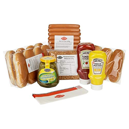 "HOT DOG WORLD - Hot Dog Paket ""dänische Art"" (12 Stück BEEF)"