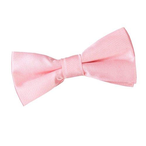 DQT DQT Neu Einfarbig Satin Kinder Jungen Elegante Klassiche Hochzeit Vorgebundene Fliege Baby Pink