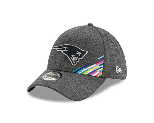 New Era New England Patriots 39thirty Stretch Cap NFL 2019 On Field Crucial Catch Graphite - S-M