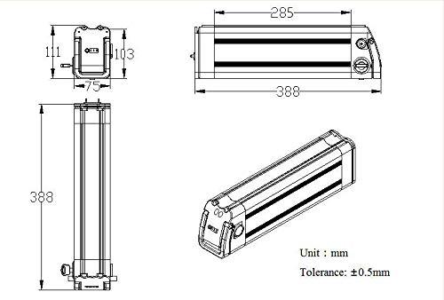 41+m NXc5RL - SEASON E-Bike Akku 36V 15Ah(555Wh) mit USB, Pedelec Ersatzbatterie für Aldi Prophete Mifa Samsung Phylion