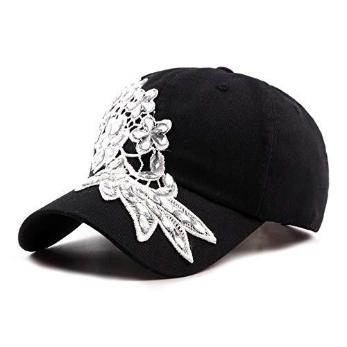Sombrero de Estilo étnico Primavera y Verano Señoras Algodón Visera para el Sol Sombrero de Playa Flor de Marea Gorra de béisbol-4