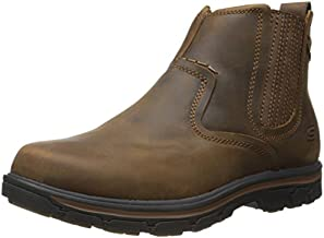 Skechers Men's Relaxed Fit Segment - Dorton Boot,Dark Brown,12 M US