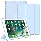 Fintie Funda Compatible con iPad 9.7 (2018/2017), iPad Air 2, iPad Air - Trasera Transparente Carcasa Ligera con Función de Soporte y Auto-Reposo/Activación, Azul Claro