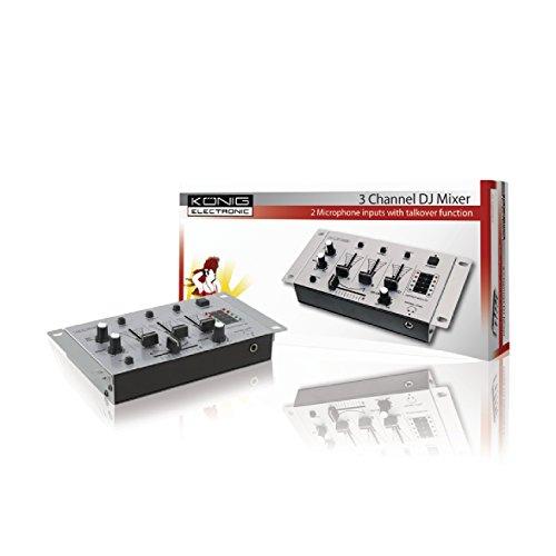 König 3 Kanal Basic DJ Mischpult