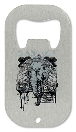 SAVAGE Black & White Theme Warning Series Jungle Animals Elephant Tiger Wolves Abrebotellas