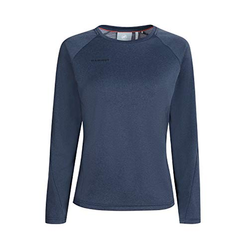 Mammut Aegility Longsleeve Tee-Shirt à Manches Longues Femme Marine Mélange FR: L (Taille Fabricant: L)