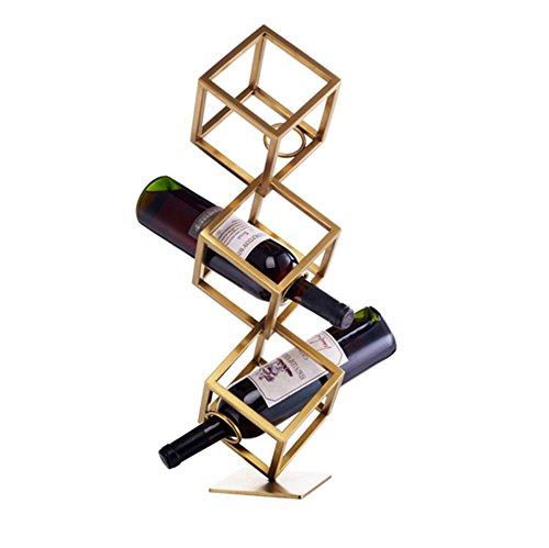 Application de décoration murale Porte-bouteilles de vin de 1/2/3 bouteilles-Refroidisseur à vin multi-fonctions à vin Racks pour étagères (taille : L)
