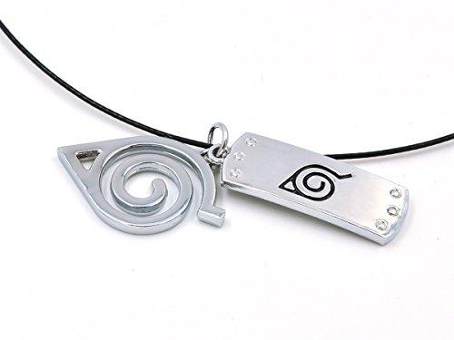 CoolChange Naruto Halskette mit Konohagakure Stirnplatten Anhängern