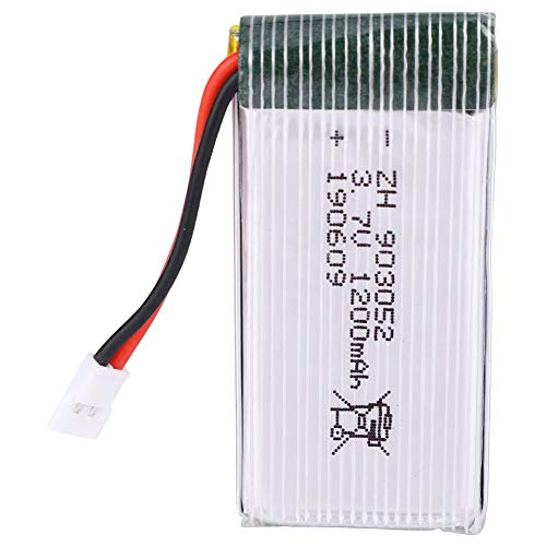 Woyisisi Quadrotor Lipo Batterie 3.7V 1200mAh gro?e Kapazit?t Passt f¨¹r X5SW X5 M18 H5P Praktisches Zubeh?r