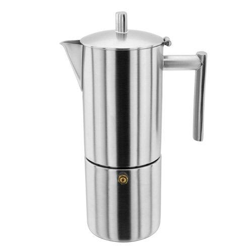 Stellar SM52 6 Tassen Matt Espressomaschine, 400ml, Edelstahl, silber