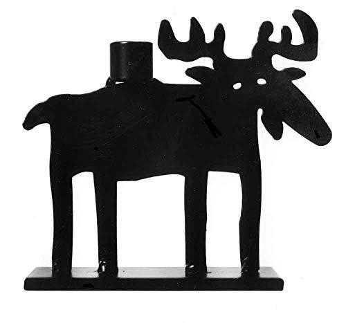 Bengt & Lotta Elch schwarz Kerzenständer Höhe 9 cm