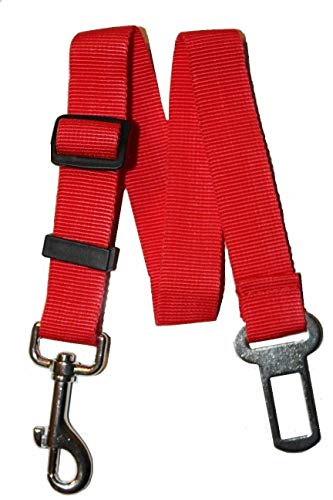 Cutdek 2X RED Cat Dog Pet Puppy Safety Seatbelt for Car Vehicle Seat Belt Harness Lead