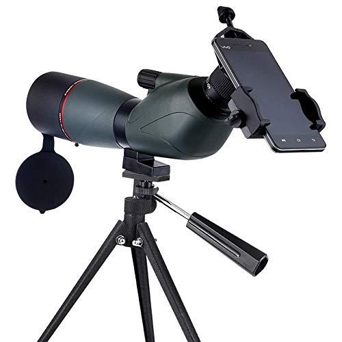AWJ binoculares 15-45X60 Gran Aumento HD Observación de Aves Observación Objetivo Espejo Zoom Monocular Telescopio Visión Nocturna con Poca luz Se Puede conectar a un teléfono mó