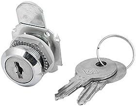 DealMux Ladekast 25mmx23mm Cilinderkop Veiligheid Metalen Cam Lock Locker Zilver Tone