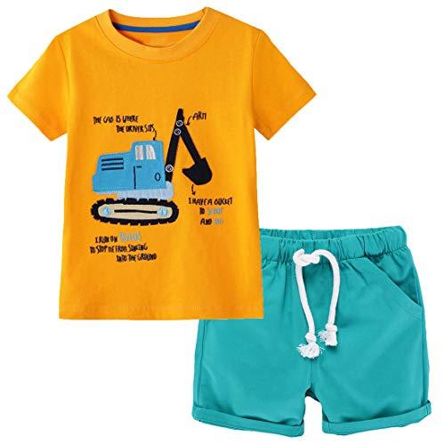Conjuntos de roupas de verão para meninos com manga curta e shorts 2 peças 2 a 7 anos, 8#, 6 Years