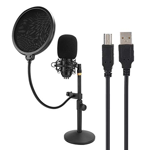 Kits de micrófono USB, Kits de micrófono de Condensador con Marco a Prueba de Golpes, Plug and Play, Equipo de grabación de música Profesional para Grabar transmisiones en Vivo