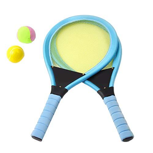 heaven2017 Raquetes de tênis para crianças com 2 bolas Azul