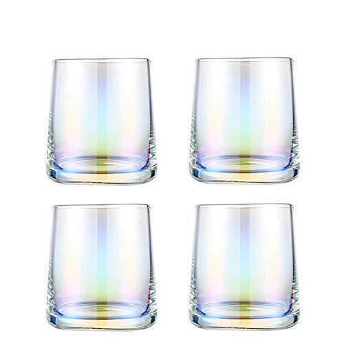 Einfachheit Transparenter Whiskyglas Hohe Kapazität Widerstaner Heißkaldglas-Tasse Teetasse Glas Trinkbecher Haushalt 7.8x8.5cm MUMUJIN (Color : Multi-Colored, Size : 4pc)