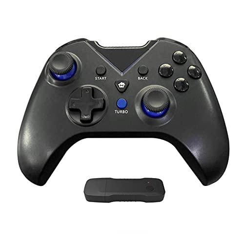 Controlador sem fio YOOXI para Xbox One, Gamepad sem fio para PC com adaptador sem fio 2.4G (Alcance ≤ 10m), compatível com Xbox One S/One X/Series X/PS3/PC/PC 360, Preto com Azul.