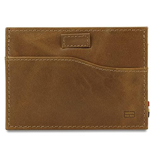 Garzini, portafoglio compatto da uomo, portafoglio RFID minimalista, portafoglio in pelle per 7 carte