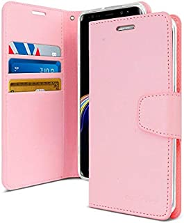 Samsung Galaxy Note 9 Leather Protection Wallet with Pockets Stand Case, Pink