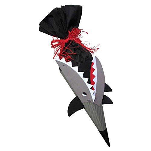 Schultüte Bastelset Hai - Zuckertüte - aus 3D Wellpappe, 68cm hoch