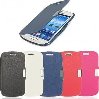 Bheema Magnetic PU Leather Hard Back Case For Samsung Galaxy S3 Mini I8190 - Blue
