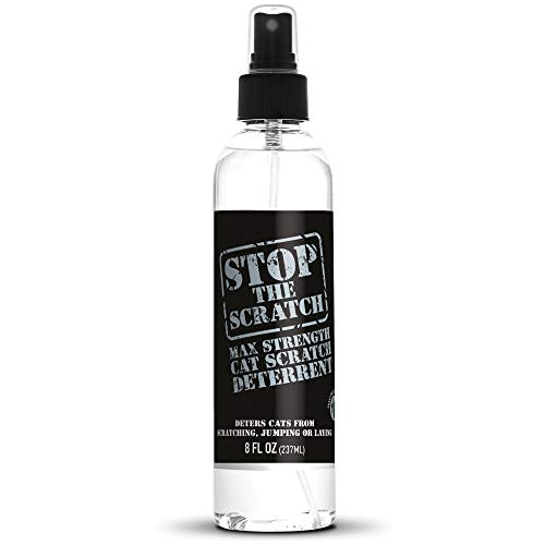 Emmy's Best Stop The Scratch Cat Spray Deterrent for Kittens and Cats - Non-Toxic, Safe for Plants, Furniture, Floors and More Cat Deterrent Spray with Rosemary Oil and Lemongrass