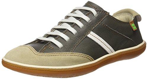 El Naturalista S.A N5273 Soft Grain L.Suede El Viajero Zapatos de cordones derby, Unisex adultos, Gris (Grafito / Piedra), 37 EU (4 UK)