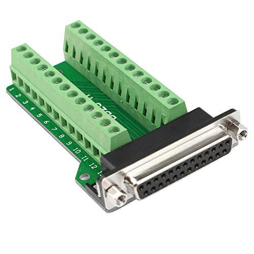 Futheda D-Sub DB25-M2 - Conector Hembra Placa Circuito