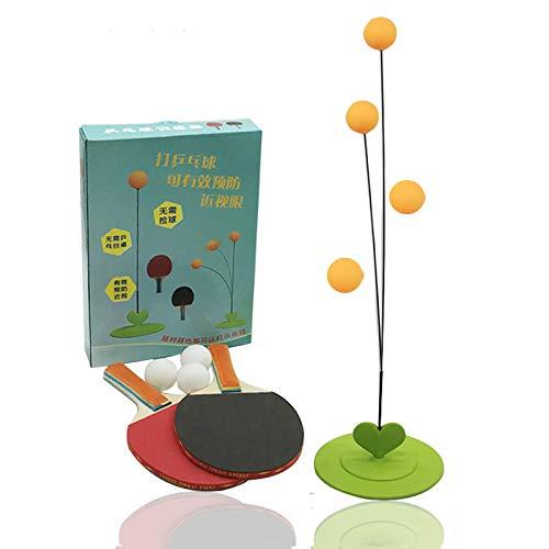 Sale!! Table Tennis Training Exercise Machine Portable Home Indoor Soft Shaft Children Beginner Table Tennis Training Device(Color:High-Grade Wood Board)