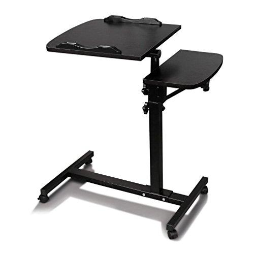 Laptop Desk,Vanvler Turn Lift Sit-Stand { Adjustable Laptop Table } Multifunction Computer Desk Cart (Black)