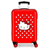 Hello Kitty Castle Maleta de Cabina Rojo 38x55x20 cms Rígida ABS Cierre combinación 35L 2,3Kgs 4 Ruedas Equipaje de Mano