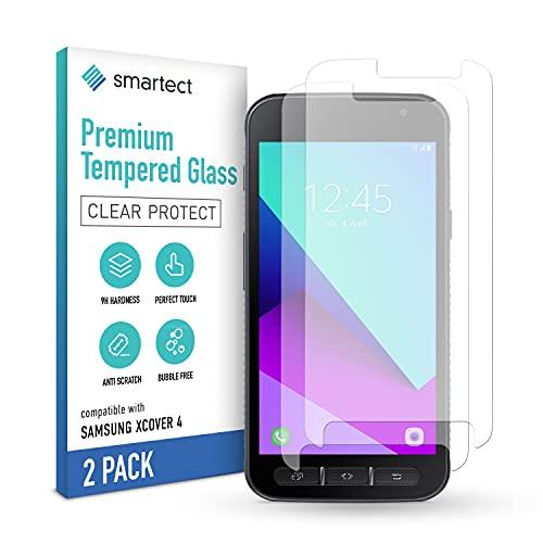 smartect Schutzglas kompatibel mit Samsung Galaxy Xcover 4s / 4 [2 Stück] - Tempered Glass mit 9H Härte - Blasenfreie Schutzfolie - Anti-Kratzer Displayschutzfolie