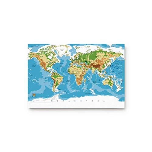 LIS HOME Topographische Karte Weltkarte Fußmatten Küche Boden Bad Eingangsbereich Teppich Matte saugfähig Indoor Badezimmer Dekor Fußmatten Gummi rutschfest