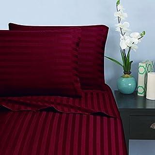 "Elegant Comfort Wrinkle & Fade Resistant 1500 Thread Count, Up To 16"" Deep Pocket, Queen, Burgundy"