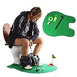 CAIZHAO Toilet Golf, Vasino Putter Set Bagno Gioco Mini Golf Set Golf Mettere Novelty Set Facile e Veloce da configurare Gioco da Toilette