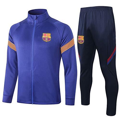 L-YIN Entrenamiento de fútbol de los hombres uniforme de transpirable Azul largo de la manga ropa deportiva de -A1026 Chándales (Color : Blue, Size : XL)