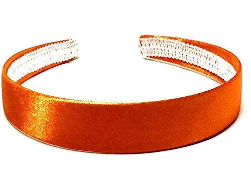 La Peach Fashions Brightly Coloured Satin Alice Bands Headband In 2.5 cm Width Lovely Colour Hairbands (Orange)