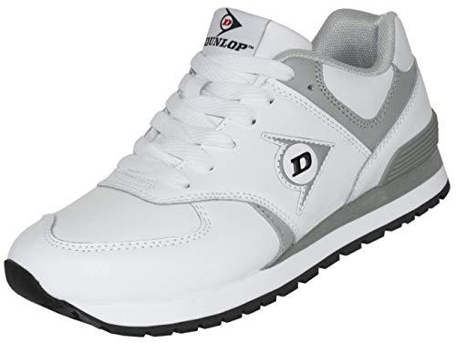 Dunlop Arbeitsschuhe OD 1 Berufs-Schuhe ohne Stahlkappe EN 347, rutschfeste Sohle, Weiß, Gr. 40