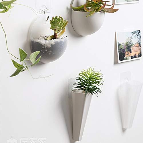 2/4PCS アクリル フラワーホルダー プランター装飾 透明/白色 壁掛け鉢植え 水植 ハンガー花瓶 ボール/コーン形状(Set White Transparent)