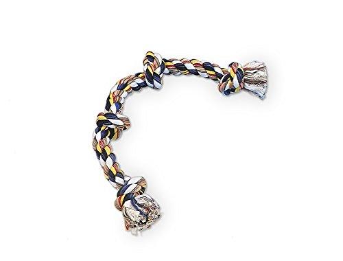 Nobby Os avec 4 Nœuds en Cotton pour Chien Multicolore 260 g