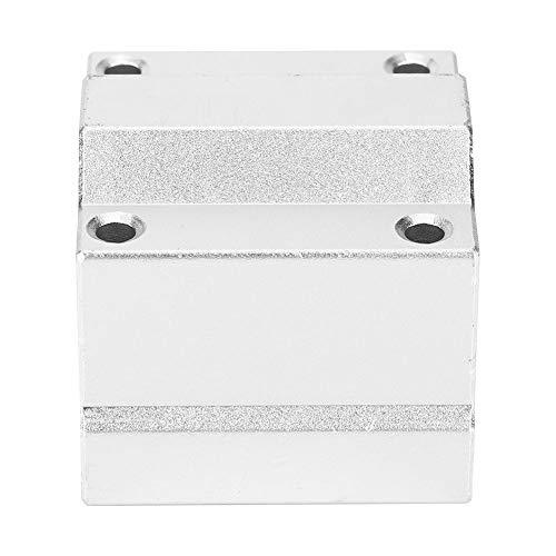 Linearlager Gleitblock,Linear Motion Block Lager aus Aluminiumlegierung Gleitblock Gleitbuchse,SCS12MM/SCS13MM/SCS16MM (optional),M4 Schraubenlöcher,Linear Bearing Slide Block(scs16MM)