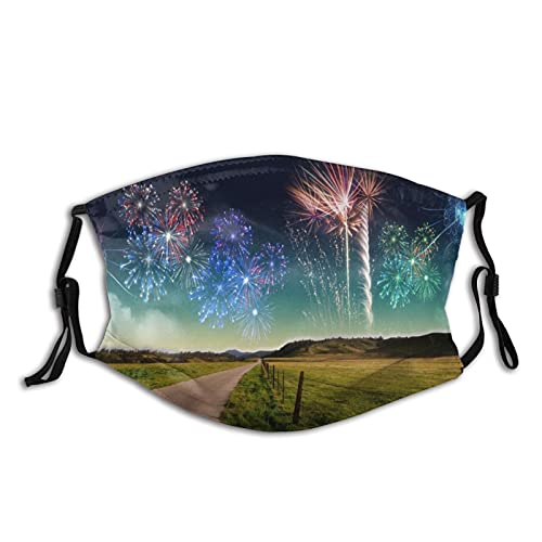 New 3d Wallpaper 1 Mens Women Washable Reusable Bandanas 3D Print Breathable Mouth Cover with 2 Filter,1PCS,