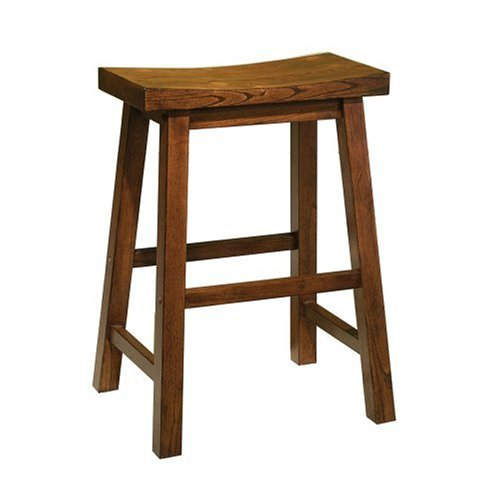 Powell Furniture Counter Stool, 24', Honey Brown