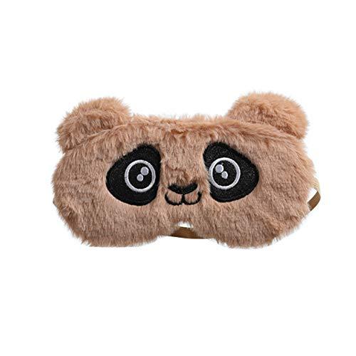 Dodheah Masque de Sommeil Licorne Masque de Nuit Enfant Animaux Masque Kawaii Mignon Cache Yeux pour Dormir Adultes Femme Brun Panda