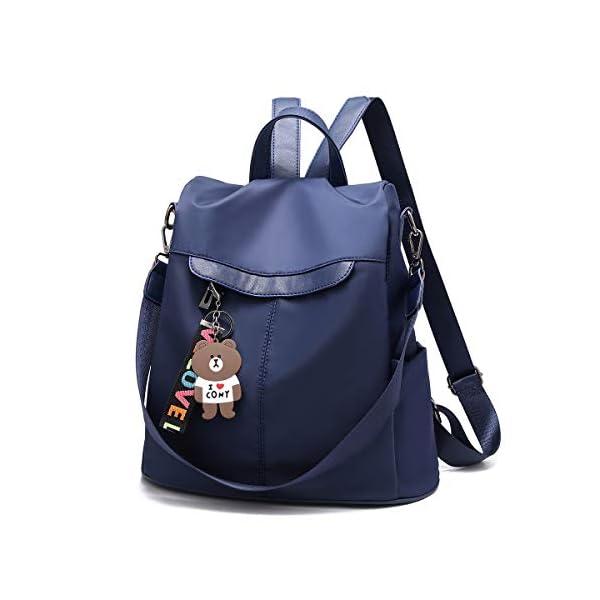 41+mAwX9eoL. SS600  - Mochila de las mujeres antirrobo impermeable mochila casual monedero de cuero de la PU bolsa de hombro de la escuela ligera