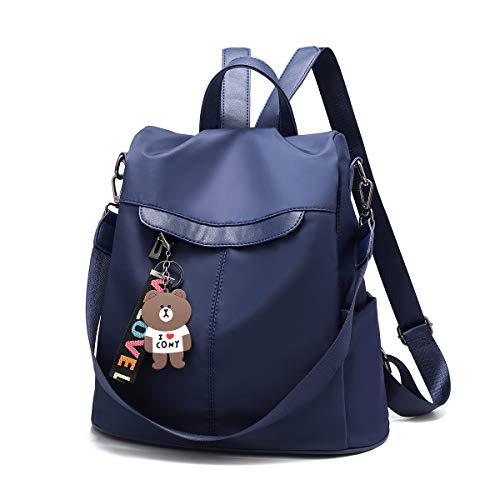 41+mAwX9eoL - Mochila de las mujeres antirrobo impermeable mochila casual monedero de cuero de la PU bolsa de hombro de la escuela ligera