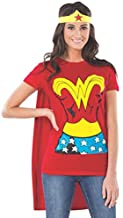 Rubie's womens Comics Wonder Woman Shirt With Cape And Headband Adult Sized Costumes, Red, X-Large US